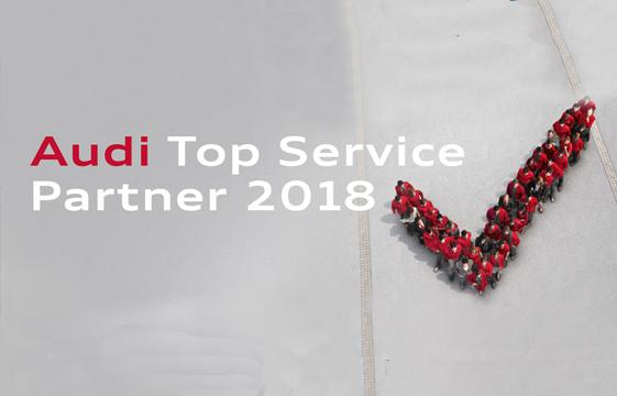 Audi Top Service Partner 2018.